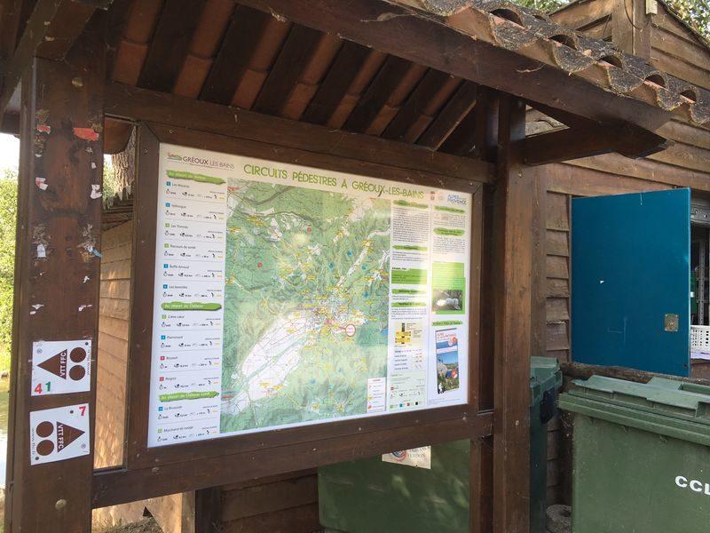 """Itinéraire pédestre Gréoux-Les-Bains """"Les Maurras"""""""